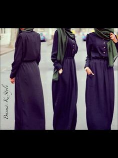 #hijab dress with buttons <3