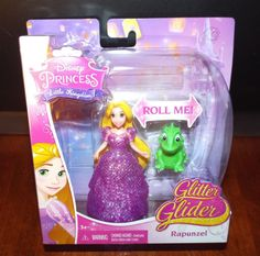 Disney Princess Little Kingdom GLITTER GLIDER RAPUNZEL Magiclip Doll NEW! #Mattel