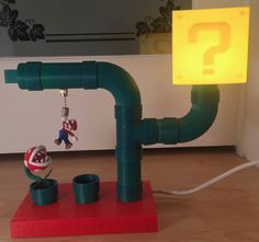 Mario Themed Desk Lamp by Big 3d Printer, Orthodontic Appliances, Video Game Rooms, 3d Printing Technology, Cool Lamps, Pipe Lamp, 3d Prints, Water Pipes, Super Mario Bros