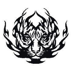 Vinilos Animales Tigre Tribal
