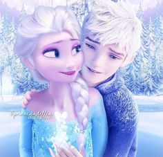 Jelsa-Bridge Of Light Princesa Disney Frozen, Disney Princess Frozen, Elsa Frozen, Princess Luna, Jelsa, Princesse Disney Swag, Frozen Images, Frozen Wallpaper, Jack Frost And Elsa