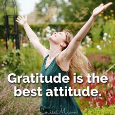 Gratitude is the best attitude! Find 30 days of gratitude quotes, photos, and more to help you adopt an attitude of gratitude. FREE photo download to make your own inspirational graphics! Check out the blog post.