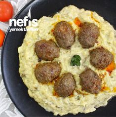 Beğendili Köfte Turkish Recipes, Italian Recipes, Ethnic Recipes, Fish And Meat, Fish And Seafood, Turkish Sweets, Turkish Kitchen, Fresh Fruits And Vegetables, Snacks