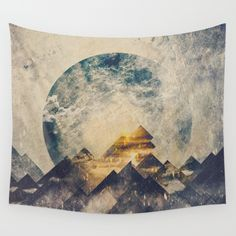 One mountain at a time Wall Tapestry