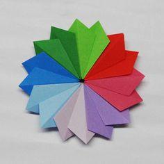 Origami,  Star By Tomoko Fuse Folder :Sam.Amalan