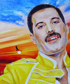 John Deacon, Freddie Mercury Michael Jackson, Queen David Bowie, Impression Poster, Oil Paint Brushes, Queen Aesthetic, Queen Photos, Queen Art, Greatest Rock Bands