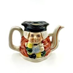 Toby Jug Tea Pot Style ornament miniature Pottery Collectable Collectors 1950's