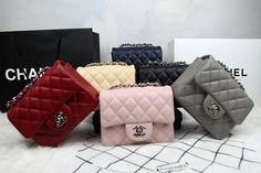 Chanel Mini Classic Flap Shoulder Bag 1115 in Grey Original Caviar ...
