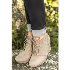 WANT!! Rise To The Occasion Booties-Taupe - $45.00