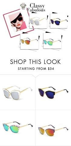 """""""Buenos Aires - Designer Mirror Sun Glasses"""" by lamiacara ❤ liked on Polyvore"""