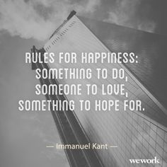 WeWork inspirational quote // Immanuel Kant