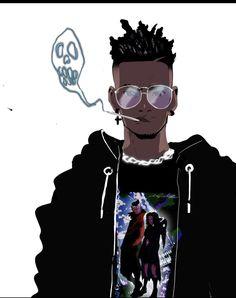Dope Cartoon Art, Dope Cartoons, Black Cartoon, Cartoon Drawings, Game Character Design, Character Art, Trill Art, Dojo, Black Boys