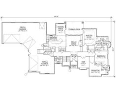 Floor Plan First Story http://www.theplancollection.com/house-plans/home-plan-24488