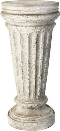 Buff Outdoor Garden Pedestal For Sculptures, Planters And Urns Available At  AllSculptures.com Plant