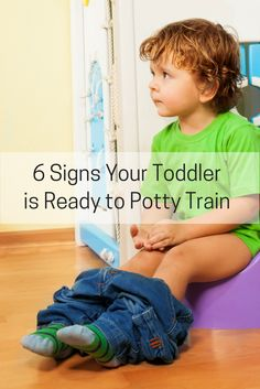 Not sure if your toddler is ready to potty train? These six signs signal that a toddler is ready. Sure, it sounds easy enough with all of the 3-day methods out there, but if your toddler isn't ready, potty training will take much, much longer.