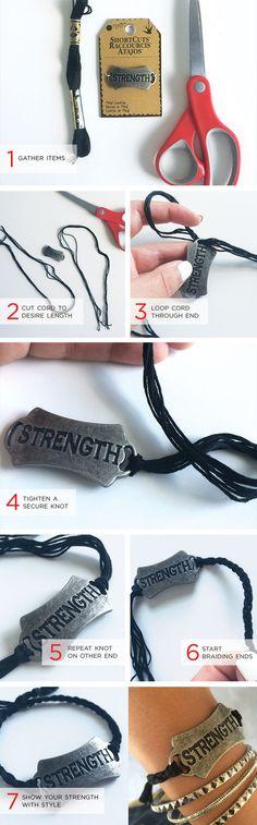 DIY Strength bracelet - easy to make