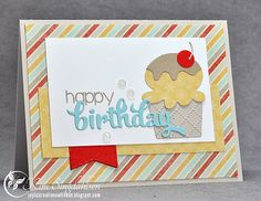 Reverse Confetti Ice Cream for Sweet Sunday Sketch - from Joyful Creations with Kim