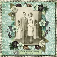 Wedding Day...love the colors...they really give those old black and white photos a vintage look.