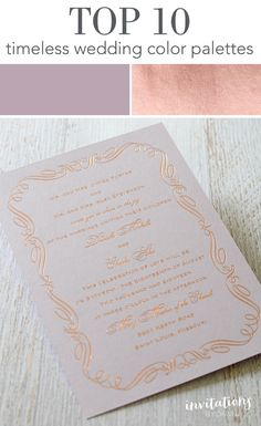 Lavender + Rose Gold  Color palettes don't get prettier than this. An absolutely magical combination of soft lavender and shimmering rose gold will mesmerize your guests and shine in your wedding photos.