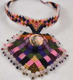 Macrame  necklace by Colors Of Etnika Tulsa, Oklahoma www.colorsofetnika.com