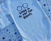 "Harry Potter  ""Waiting on my letter to Hogwarts"" Baby Bib. $6.20, via Etsy."