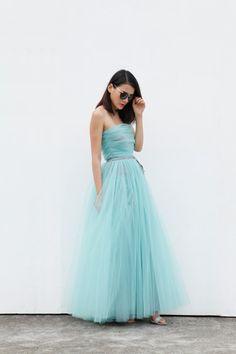 Tulle Skirt Floor length Tutu Skirt Elastic Waist tulle tutu Princess Skirt Wedding Skirt in Mint Grey - NC514