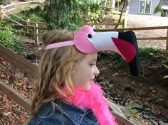 Two Tone Pink Flamingo Mask. Pure Wool by Beckatheshizknitter