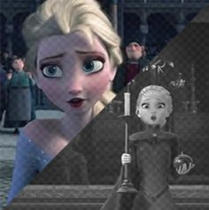 Elsa at her deepest and brightest moment