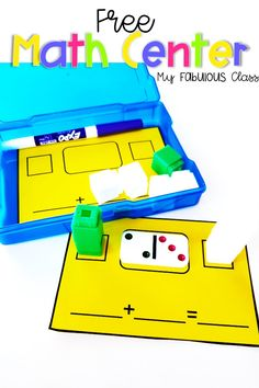 Free Domino and Unifix Math Centers for Kindergarten and 1st grade