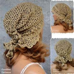 Diy Crafts - Knitting Patterns Lace Slouchy Hat 34 New Ideas Crochet Cap, Crochet Beanie, Crochet Scarves, Crochet Shawl, Knitted Hats, Crochet Clothes, Diy Crafts Knitting, Diy Crafts Crochet, Sombrero A Crochet