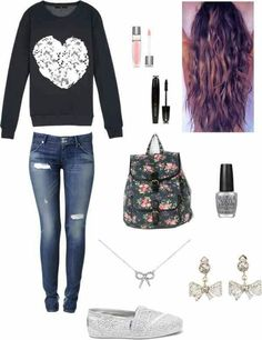 Totally cute outfit for the first day of school! Description from pinterest.com. I searched for this on bing.com/images