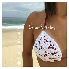 N/A Swimwear Cover Ups, Two Piece Swimwear, Crochet Bikini Top, Crochet Top, Halter Bikini, Bikini Tops, Crochet Lingerie, Bikini Inspiration, Boho Style Dresses
