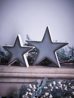 NEW Grey Ceramic Stars