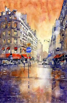 watercolor paris rain | After the Rain – Paris Morning « Stillman & Birn