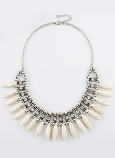 Collar diamante perlas dorado 7.60