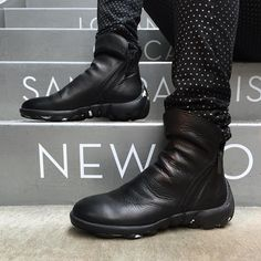 Strutting into view with double zippers and a wrinkled vamp on top of our original rubber Urban Angel sole, The Walkers are all the comfort you remember in a sizzling hot, modern-day package. Protection from pain & suffering, crime & grime, mean people and satan.