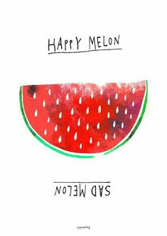 Papeterie, mugs & some other hot stuff von typealive Watermelon Art, One In A Melon, Cute Fruit, No Rain, Fruit Art, Food Illustrations, Cute Illustration, Cute Wallpapers, Art Pictures