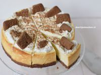 Witte chocoladecheesecake met speculaas