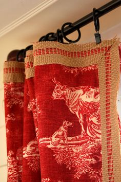 Toile Curtains - from Miss Mustard Seed