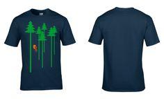 d75b49868 Trees (B) Mens Cotton T-Shirt Mountain Biking Road Racing BMX Bike Shop