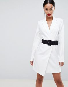 ASOS Tall | ASOS DESIGN Tall tux mini dress with belt