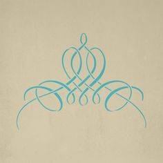French Flourish Stencil | Royal Design Studio (stenciled onto the backs of high-back chairs)