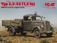 Typ 2,5-32 (1,5 to), WWII German Light Truck Vintage Cars, Antique Cars, Truck Scales, Ww2 Tanks, Rubber Tires, German Army, Armored Vehicles, Military Art, War Machine