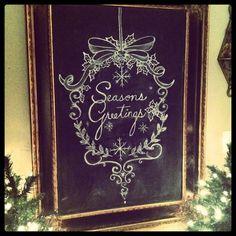 Holiday Chalkboard Art...