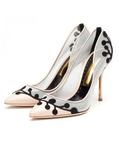 Touch of Black - 12 Wedding Shoes That Are a Sheer Delight