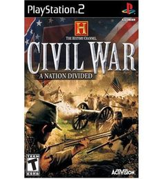 Civil War A Nation Divided, History Channel - PS2 Game
