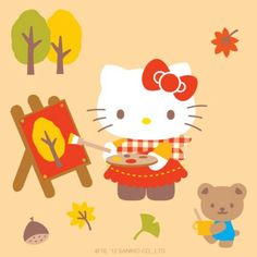 Fall hello kitty