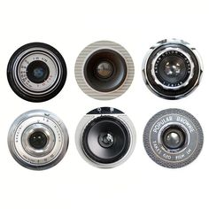 Ella Doran Camera Lens Coasters - Set of 6 (595 MXN) ❤ liked on Polyvore featuring home, kitchen & dining, bar tools, fillers, decor, other, camera, grey and handmade coasters
