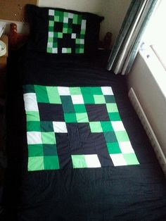 Minecraft Creeper Duvet Cover & Pillow Case, Single, Bedding, Blanket | eBay