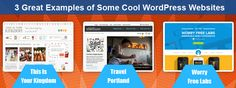 3 Great Examples of Some Cool WordPress Websites